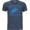 Marmot Sunrise Bluzka z krótkim rękawem Mężczyźni niebieski
